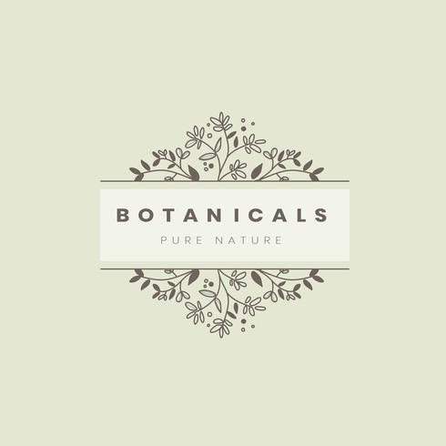 Vetor de design de distintivo de estilo botânico