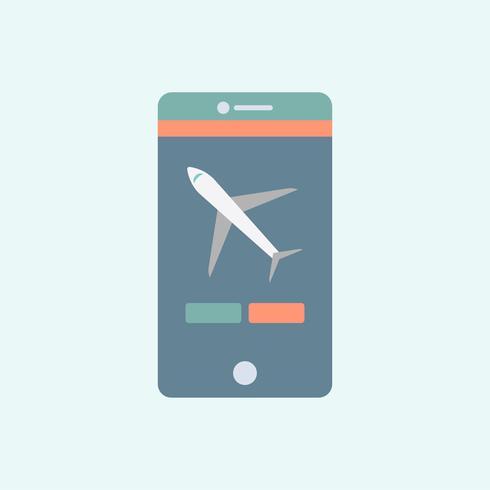 Illustrazione di un telefono app su un cellulare