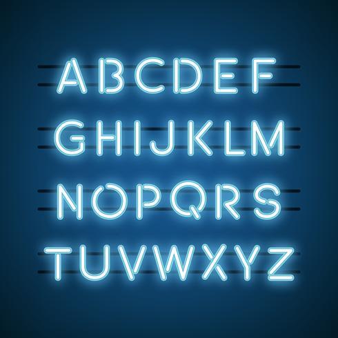 Alfabeti in luce al neon