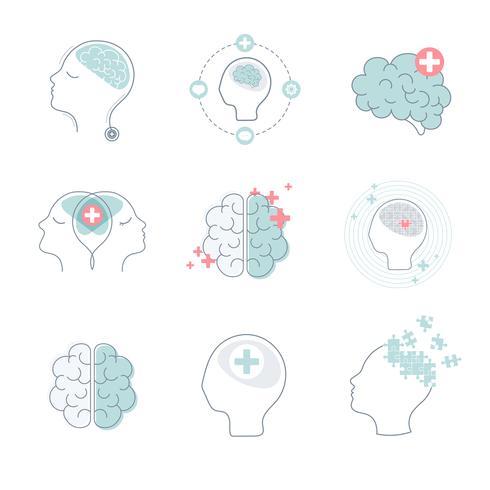 Medizinische Gehirnikonen