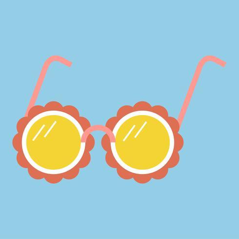 Illustrazione di un paio di occhiali da sole girly