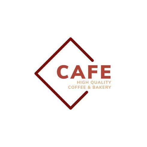 Logotipo de café café de alta qualidade