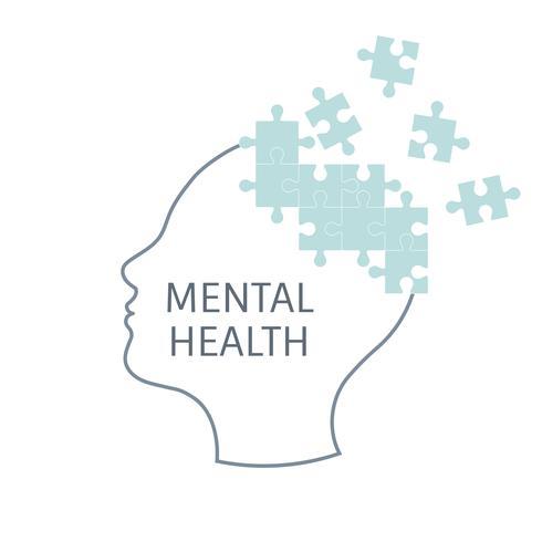 Saúde mental e terapia vector