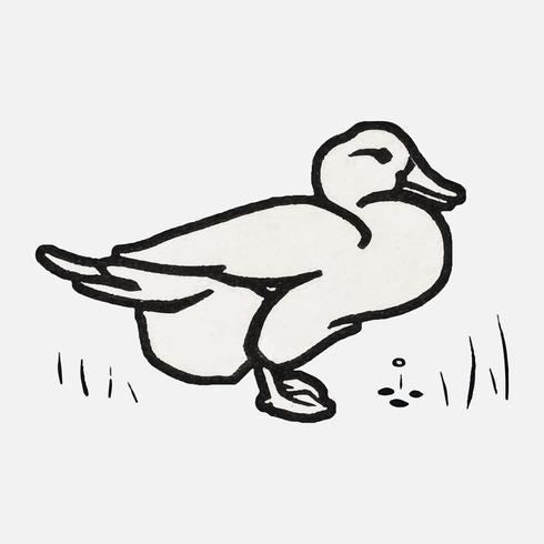 Duck (1923-1924) door Julie de Graag (1877-1924). Origineel van het Rijksmuseum. Digitaal verbeterd door rawpixel.