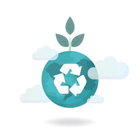 Återvinningssymbol miljöskyddsvektorn