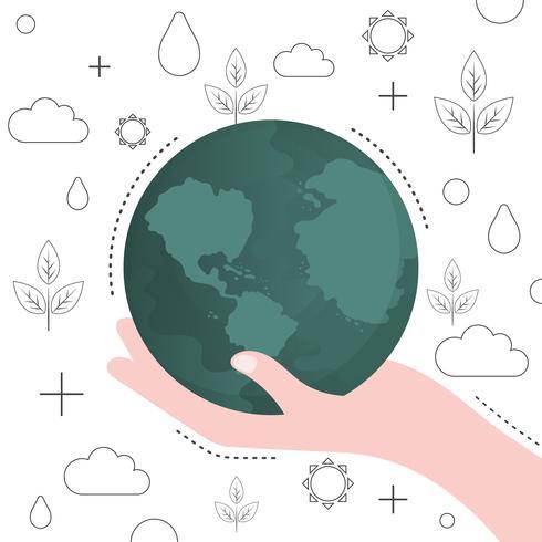 Red de wereldbeschermingsvector voor de wereld
