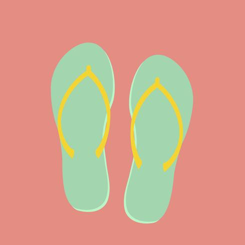 Ilustração de flip-flops pastel