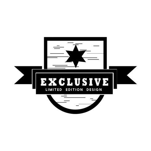 Exclusieve badge-vector in beperkte oplage