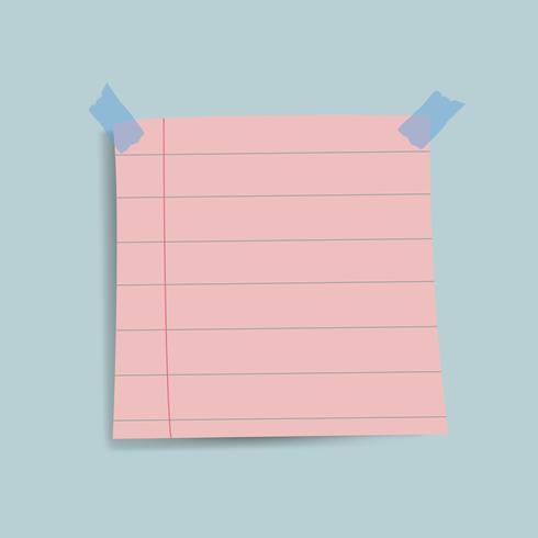 Lege roze herinneringsdocument notavector