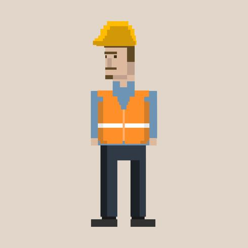 Ilustração de pixel da ocupação