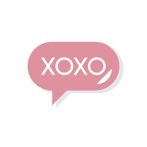 XOXO-bericht Valentijnsdagpictogram