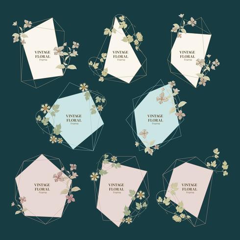 Vintage illustratie van Vintage floral frames.