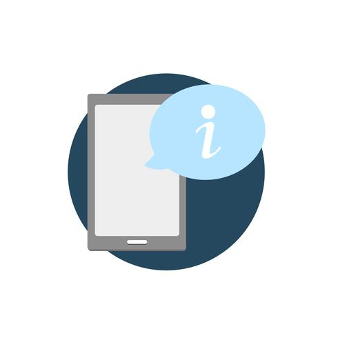 Illustrazione del dispositivo digitale con l'icona di avviso