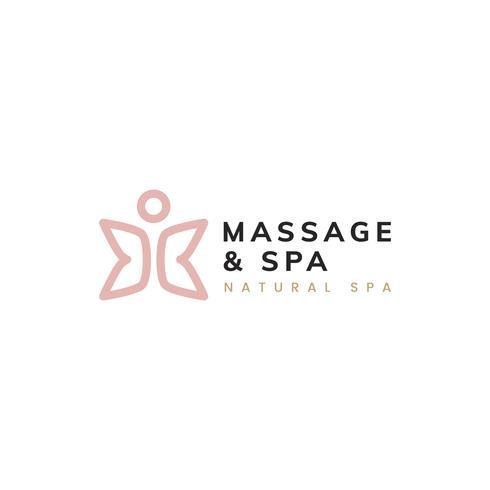 Massage and spa healthy life logo vector