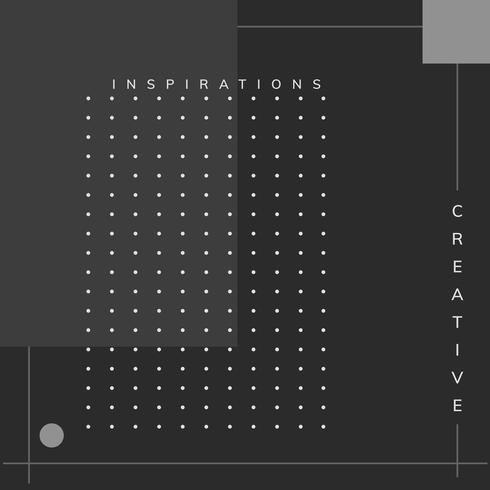 Vettore minimo del manifesto di ispirazione di progettazione di Memphis