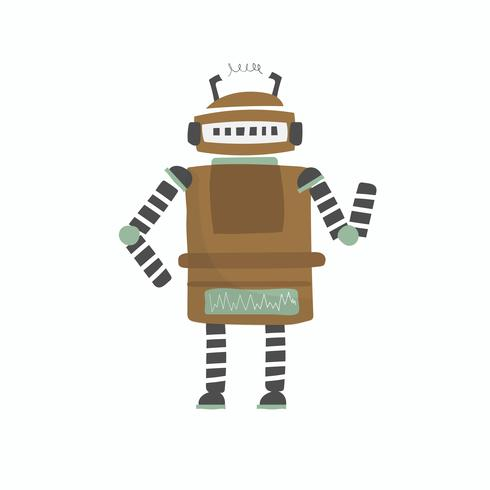 Illustrazione del grafico vettoriale di robot