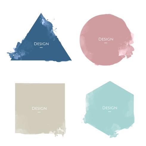 Set of Announcement Badge mallar design illustration