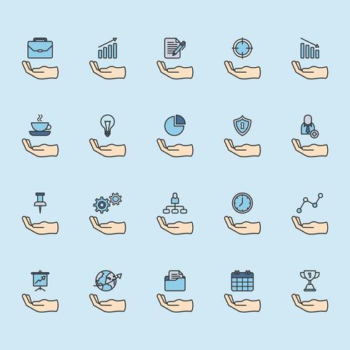 Ensemble d'icônes de l'entreprise