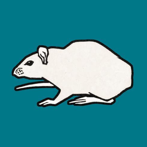 Rato (1917) por Julie de Graag (1877-1924). Original do Museu Rijks. Digitalmente aprimorada pelo rawpixel.