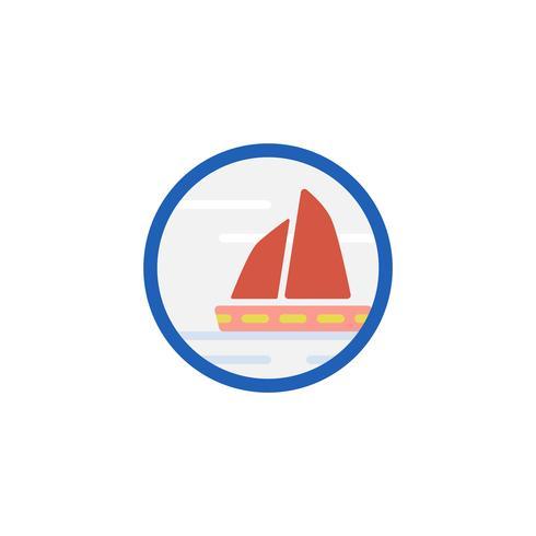 Ilustración del icono del barco de vela