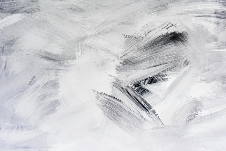Black paint on a canvas