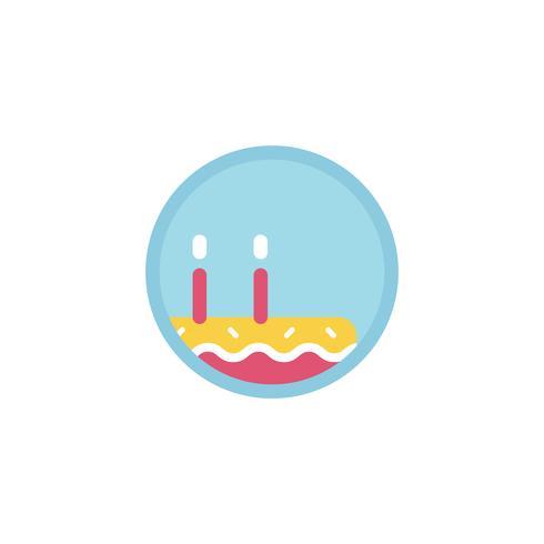 Illustratie van verjaardagstaart icoon