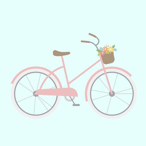 Illustratie van een girly fiets