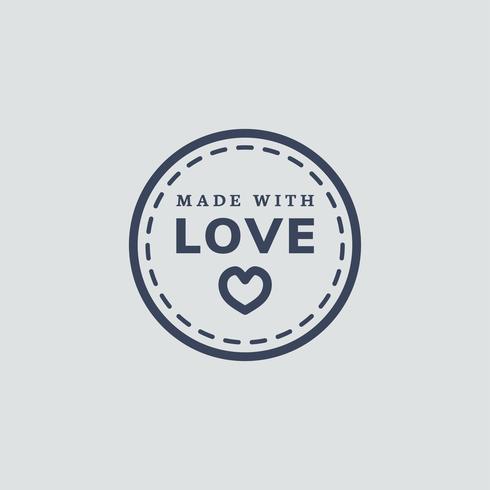 Feito com ilustração de ícone de amor