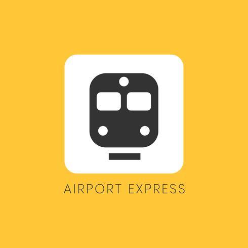 Gelber Flughafeneilikonen-Zeichenvektor