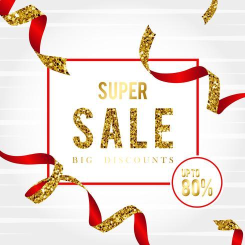 Super vente 80% de réduction signe vecteur