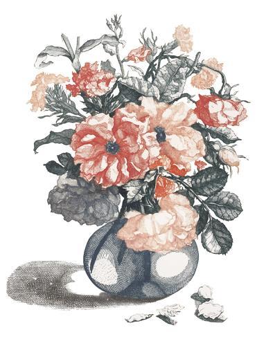Uitstekende illustratie van bloemen in een vaas