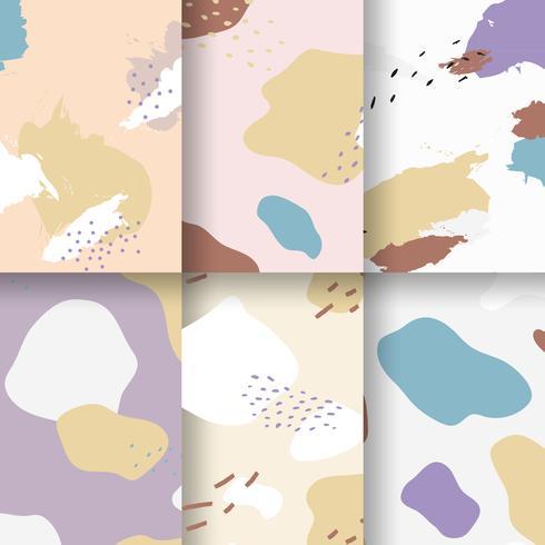 Pastell-Memphis-Musterdesignvektor
