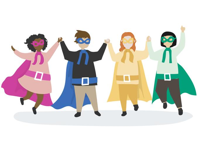 Färgglada superheros till räddningen