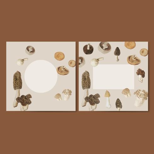 Set di cornici di design a forma di fungo