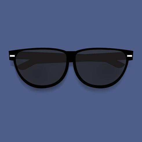 Vettore grafico dell'illustrazione degli occhiali da sole neri