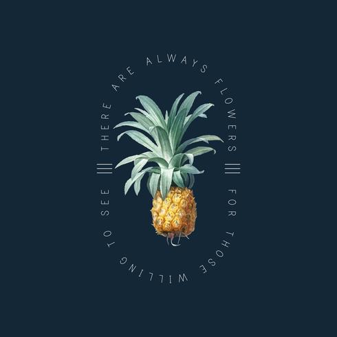 Tropisch ananasbadge