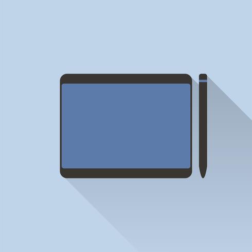 Ilustración de la tableta gráfica diseñador pluma