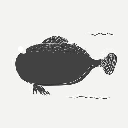 Cartoon disegno di un pesce