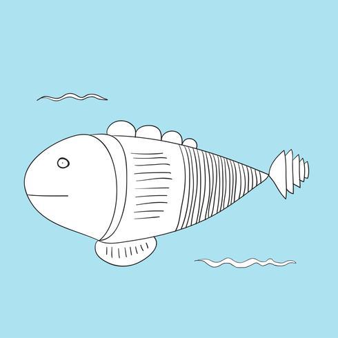 Vektor av undervattens varelser