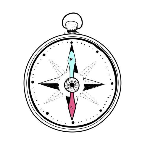 Doodle van kompas