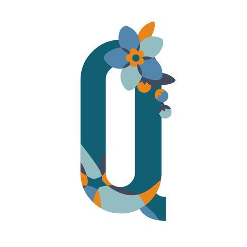 Lettere a motivi floreali