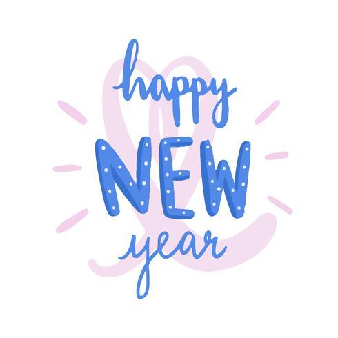Feliz ano novo tipografia vector