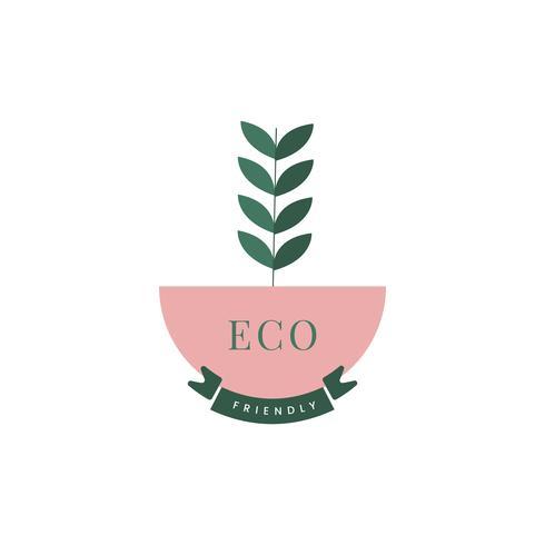 Miljövänligt jordbruk ikon vektor
