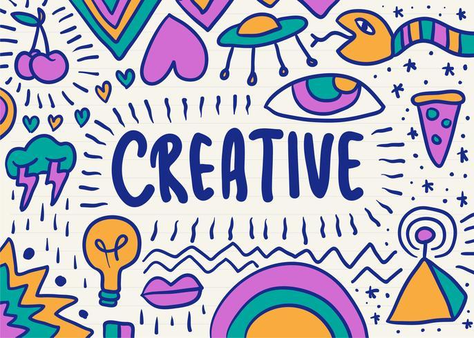 Graphique de gribouillage créatif et coloré