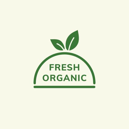 Färsk organisk emblem illustration