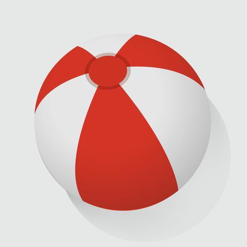 Rote und weiße Wasserball-Vektor-Illustration