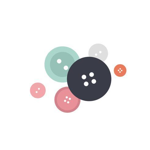 Gemengde kleurrijke illustratie van het knopenpictogram