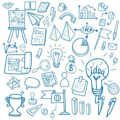 Illustratie van opstarten zakelijke doodle collectie