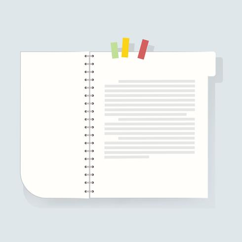 Notebook dagboek pictogram vectorillustratie