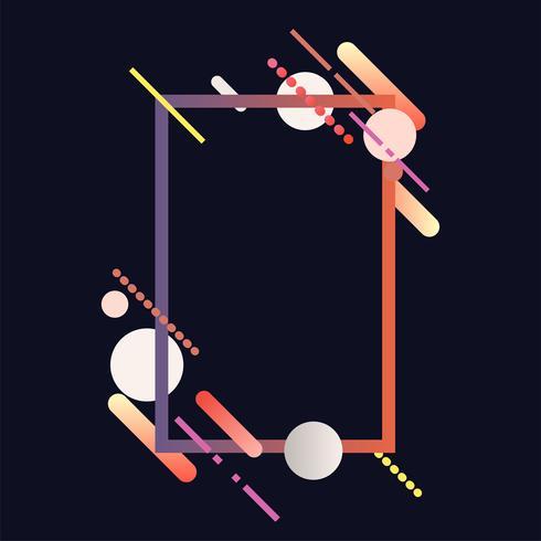 Moderne rechthoekbanner in kleurrijke kaderillustratie